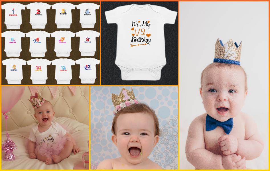 Baby Milestone Rompers