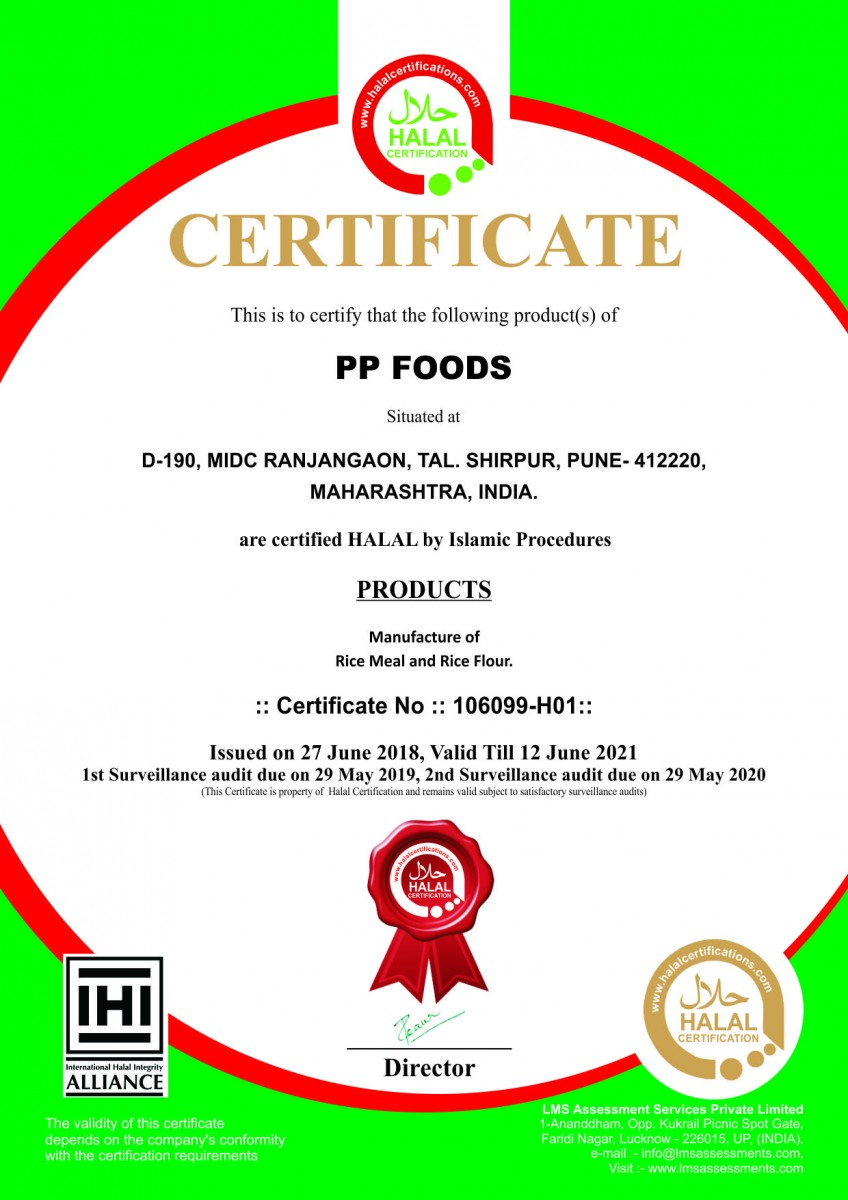 Pp Foods Obtains Halal Certification Pr Submission Site