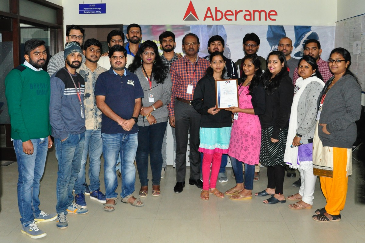 Aberame is now ISO Certified