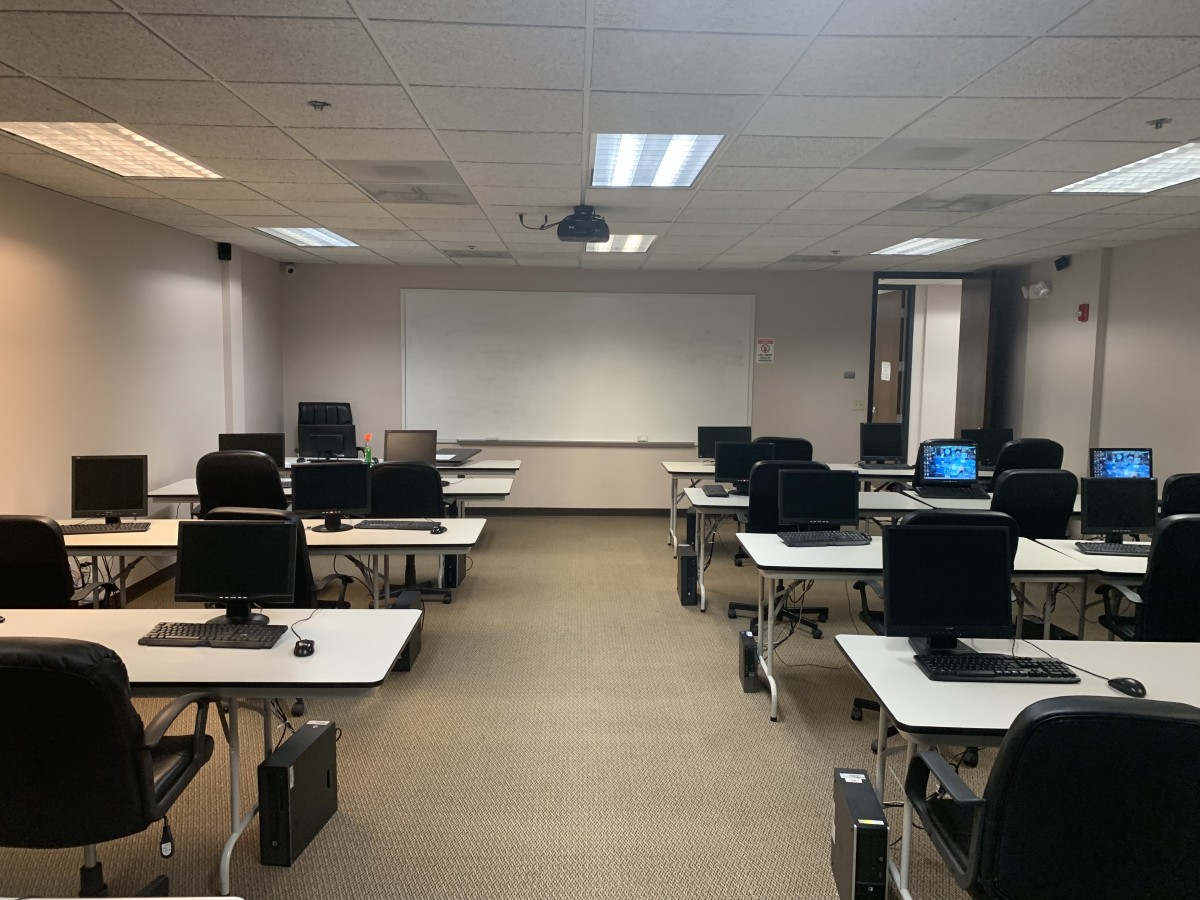 Classroom with white board