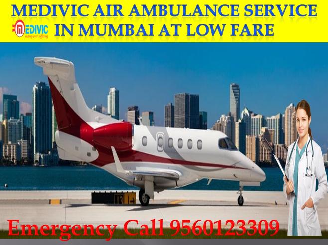Medivic Air Ambulance service in Mumbai