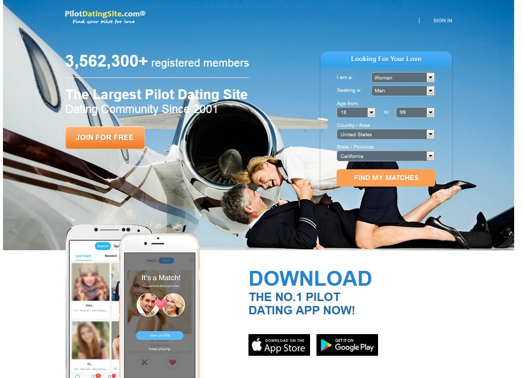 Pilot dating sites