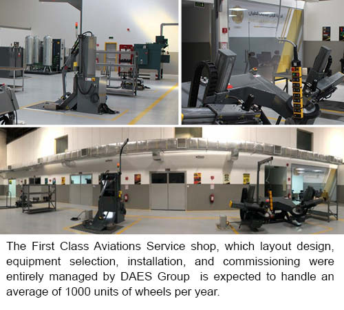 The DAES Group announces completion of a wheel and brake facility for First Class Aviation Services - Copy